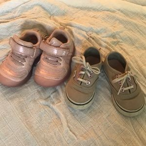 Stride Rite light up sneakers & Gray Vans size 4